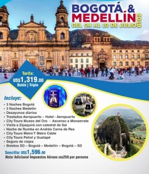 BOGOTA & MEDELLIN DEL 04 AL 10 DE JULIO